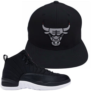 Bulls Hat To Match Neoprene 12s | Chicago Bulls Jordan 12 Retro Nylon Sneaker Snapback Hat