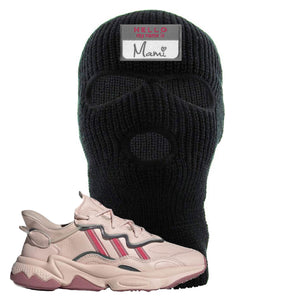 Women Ozweego Icy Pink Ski Mask | Hello My Name Is Mami, Black