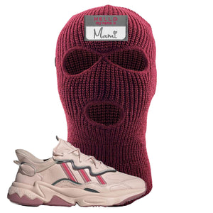 Women Ozweego Icy Pink Ski Mask | Hello My Name Is Mami, Maroon