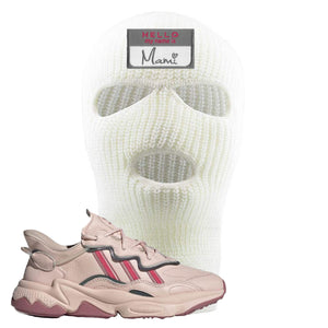 Adidas WMNS Ozweego Icy Pink Hello My Name is Mami White Sneaker Hook Up Ski Mask