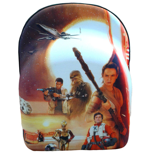 Front of this cap carrier shows the main protagonist of Star Wars Episode VII.
