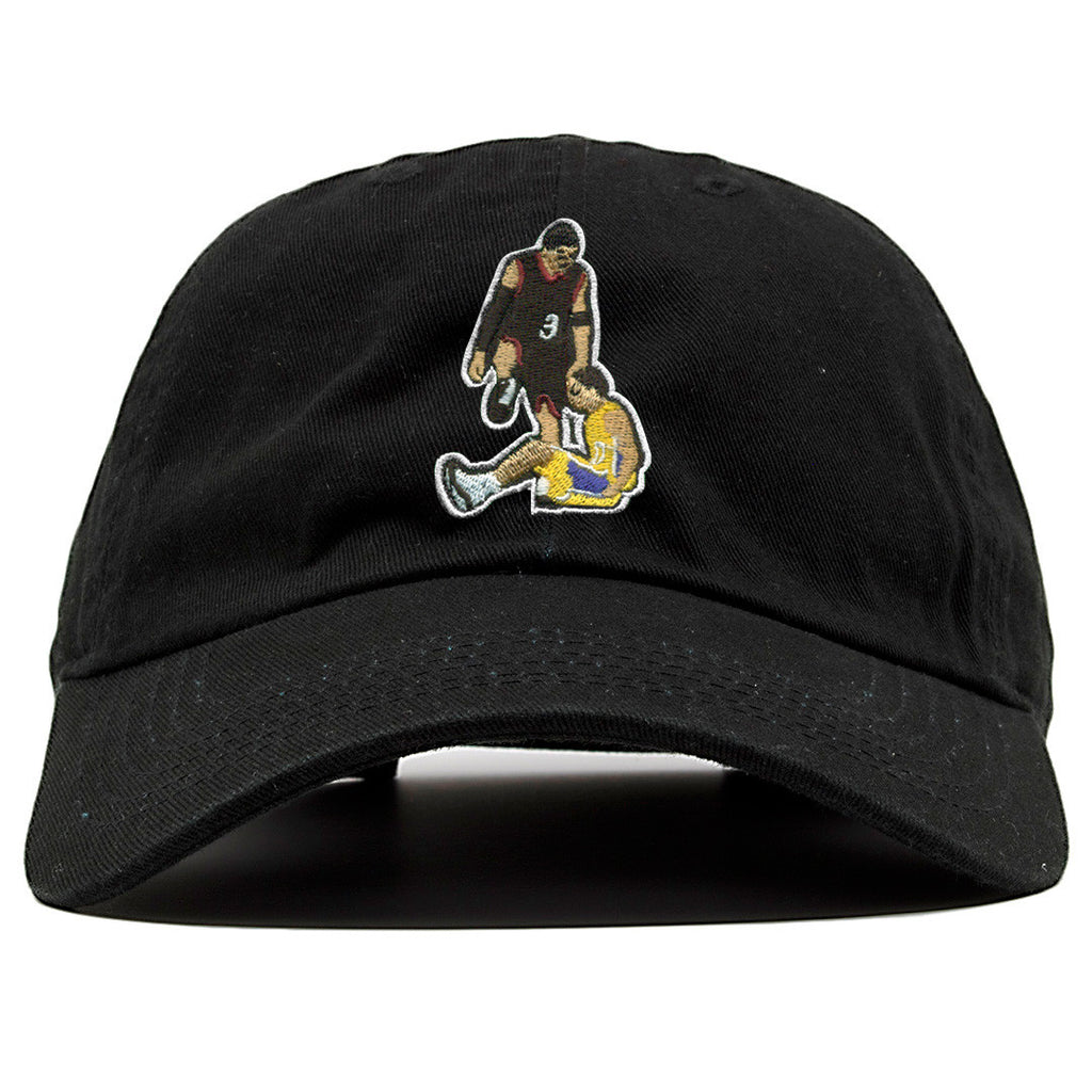 Allen Iverson Step Over Black Adjustable Dad Hat Cap Swag
