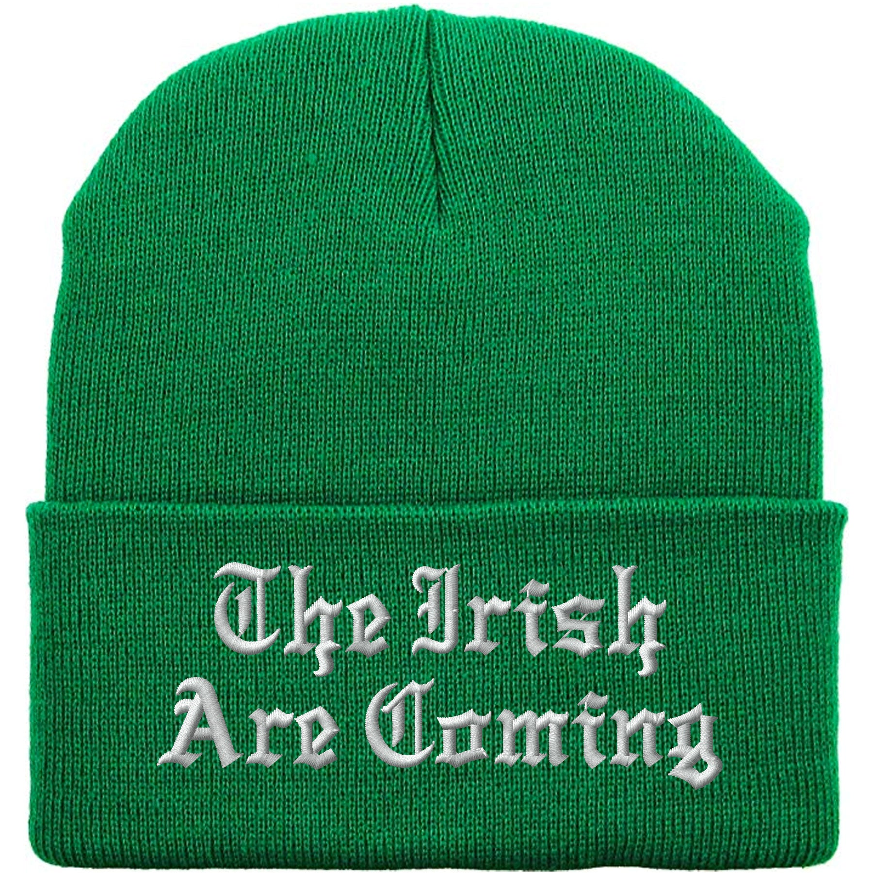 c6384182bdf St. Patrick s Day The Irish Are Coming Kelly Green Beanie – Cap Swag