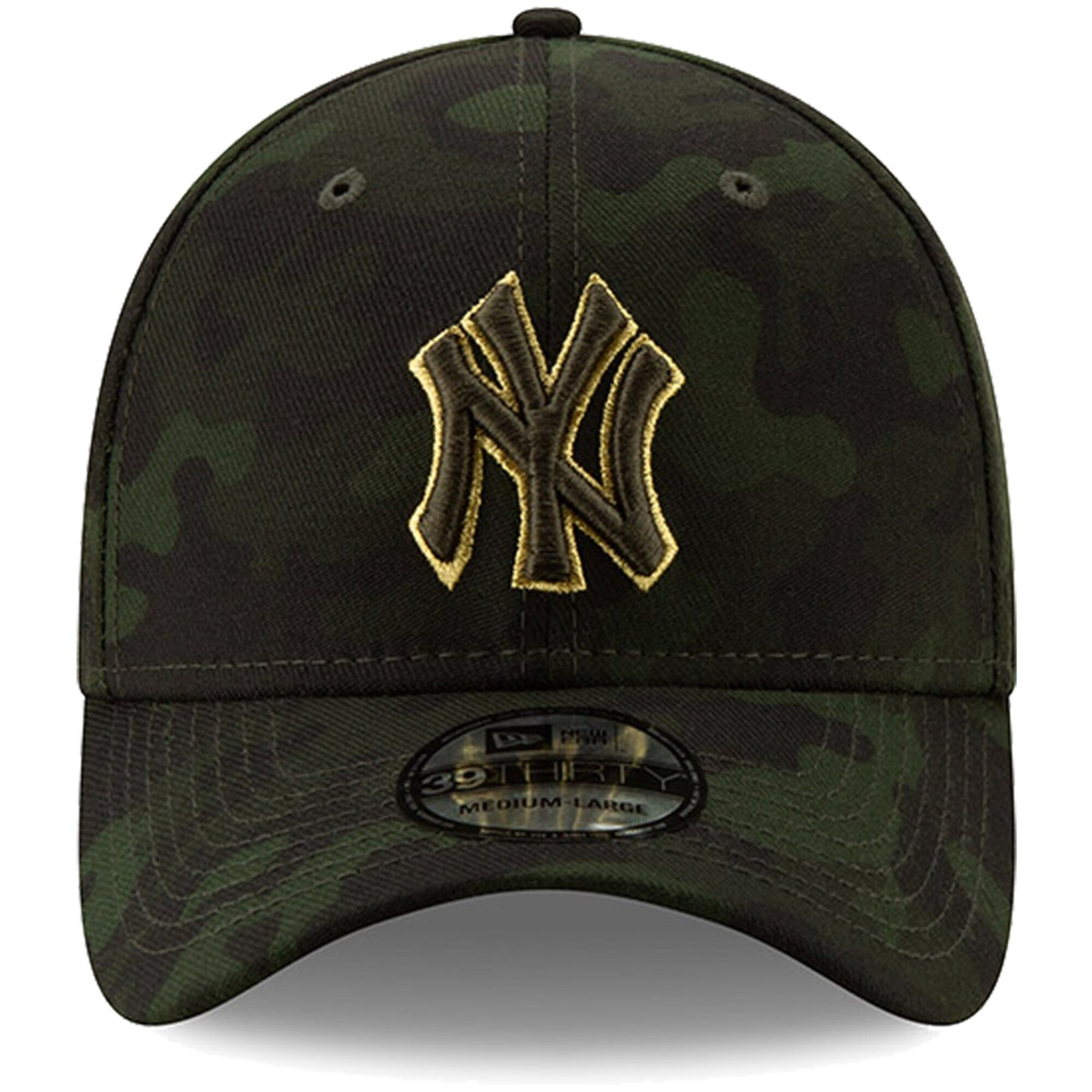 New Era 2019 MLB Pittsburgh Pirates Hat Cap Armed Forces Day 39Thirty Green//Gold