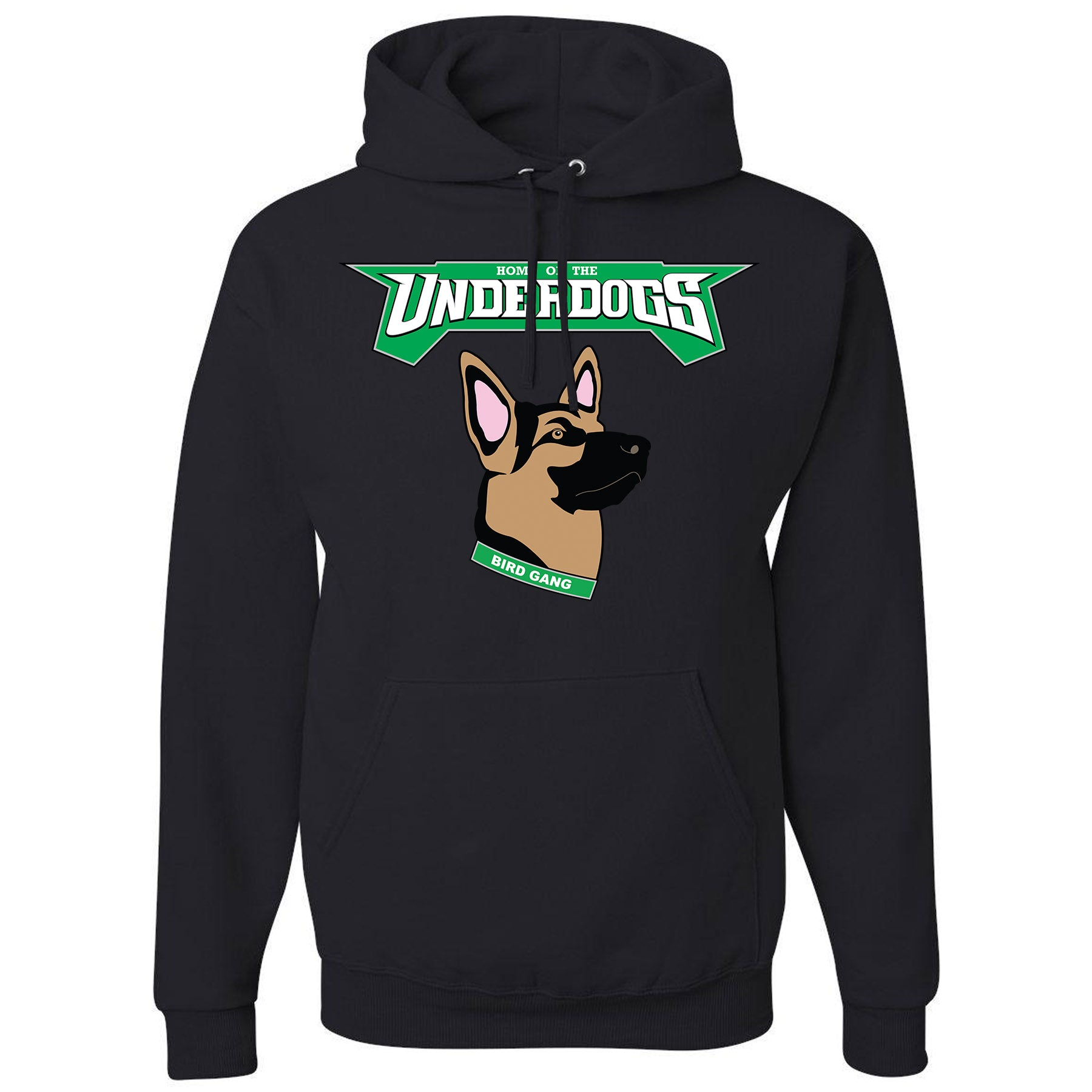3c0e58efedb on the front of the pullover underdogs eagles hoodie has the philadelphia  eagles under dog german