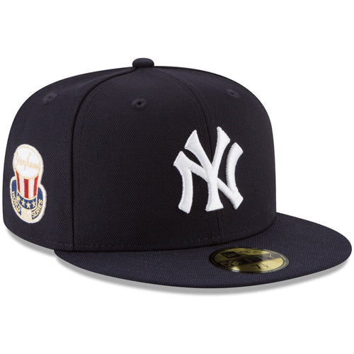 Embroidered on the wearer's right side of the New York Yankees vintage 1952 World Series Fitted Cap is the 1952 World Series patch in red, white, blue and yellow