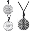 Image of Mandala CHAKRA 3rd Eye Hindu Goddess Yoga Sri Yantra Wiccan Pagan Punk Men Rope Necklace - Bohemian Gift Stores