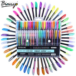 Bianyo 48pcs Gel Pen Set Refills Metallic Pastel Neon Glitter Sketch Drawing Color Pen School Stationery Marker for Kids Gifts - Bohemian Gift Stores