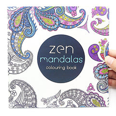 24 Pages Mandalas Flower Coloring Book For Children Adult Relieve Stress Kill Time Graffiti Painting Drawing Art Book - Bohemian Gift Stores