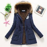 Pink Military Hooded Cotton Coat Winter Jacket Coats Women - Bohemian Gift Stores