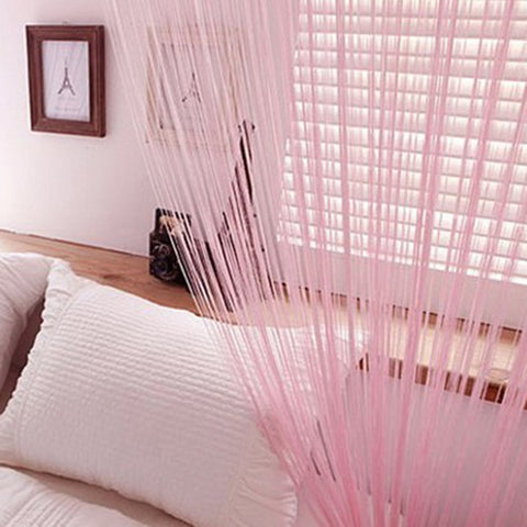 String Tassel Panel Curtain Room Divider Door Hanging 1m x 2m Window Curtains - Bohemian Gift Stores