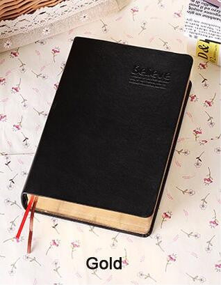 Vintage Thick Paper Notebook Notepad Leather Bible Diary Book Zakka Journals Agenda Planner School Office Stationery Supplies - Bohemian Gift Stores