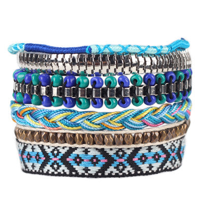 Handmade Bracelet For Women bohemian Brand Bangle Weave Sequins Fashion - Bohemian Gift Stores