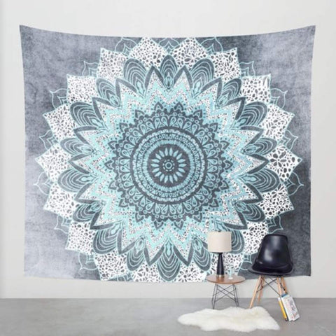 Bohemian Tapestry Floral Printed Boho India Hanging Wall Tapestries 130cmx150cm 153cmx203cm - Bohemian Gift Stores
