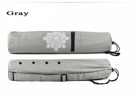 68 * 15cm Canvas Practical Yoga Pilates Mat Carry Strap Drawstring  Bag Sport Exercise Gym Fitness Backpack for 6mm Yoga Mat