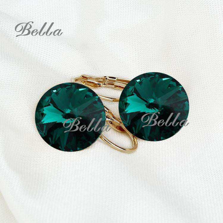 Famous Brand Austrian Crystal Earring Gold  Plated Dorp Earrings For Women - Bohemian Gift Stores