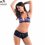 Swimwear women bikinis swimsuit monokini bathing suit women Mid waist bikini beach swimsuit women 2016 Brazilian Bikini swim