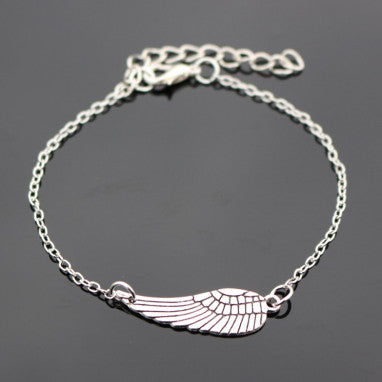 Wing Vintage Silver Plated Blue Eye Peace Owl Heart Bracelet For Women Jewelry Charm Bracelets Bangles - Bohemian Gift Stores