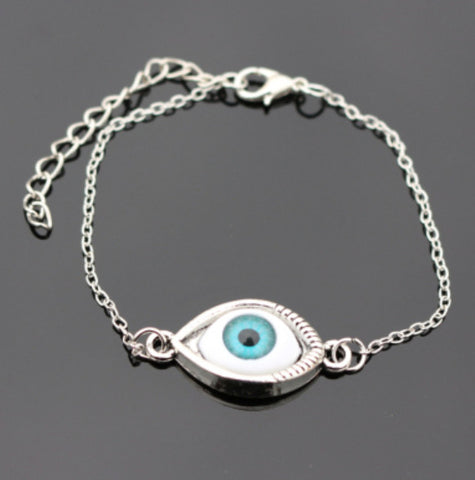 Love Vintage Silver Plated Eye Peace Friend Owl Bracelet Bangle For Women Charm Jewelry - Bohemian Gift Stores