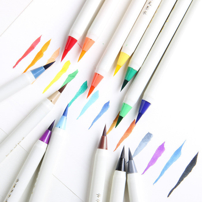 1PC Soft Brush Calligraphy Pen Watercolor Marker Brush Fineliner  Art Marker Cartoon Design Sketch Manga Graphic Drawing - Bohemian Gift Stores