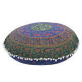 Indian Large Mandala Floor Pillowcase Round Bohemian Meditation Cushion Case Ottoman Pouf bohemian floor pillows cushions Case - Bohemian Gift Stores