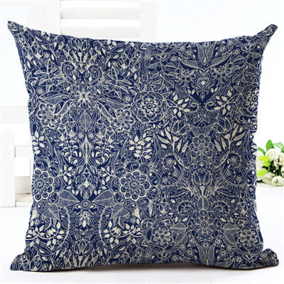 Cushion Cover Bohemian Style Car Home Decorative Floral Printed Throw Pillowcase - Bohemian Gift Stores