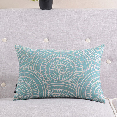 Textile bohemian Lumbar pad Cushion Cover Nordic cushions Simple soft seat car linen suit cushion pillowcase - Bohemian Gift Stores