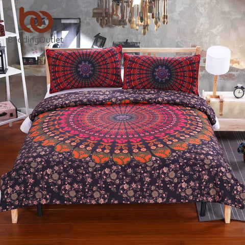 Love Stretches Bedding Bohemian Style Retro Duvet Cover and Pillowcase Twill Twin Full Queen King Cal-King Sale - Bohemian Gift Stores