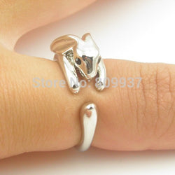 1pcs Handmade 3D Adjustable Vintage Brass Dainty Shiny Rabbit Bunny Animal Ring - Bohemian Gift Stores