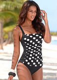 NAKIAEOI 2017 New One Piece Swimsuit Women Plus Size Swimwear Large Size Vintage Retro Padded Beach Bathing Suits Swim Wear 4XL