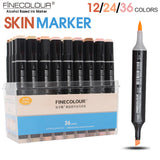 FINECOLOUR Sketch Skin Tones 12 24 36 Colors Artist Dual Head Markers Set  for Brush Pen Painting - Bohemian Gift Stores