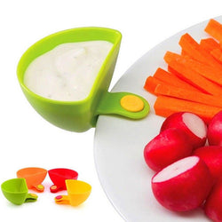1pcs Dip Clips Kitchen Bowl kit Tool Small Dishes Spice Clip For Tomato Sauce Salt Vinegar Sugar Flavor Spices