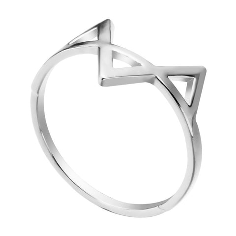 Geometric Three Triangle Ring Dainty & Delicate Jewelry Gift for Women and Girls Cool Vintage - Bohemian Gift Stores