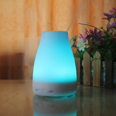 Tuansing 120ML Ultrasonic Essential Oil Aroma Diffuser Aromatherapy Air Humidifier 7 Color Change Dry Protect  Aroma Mist Maker