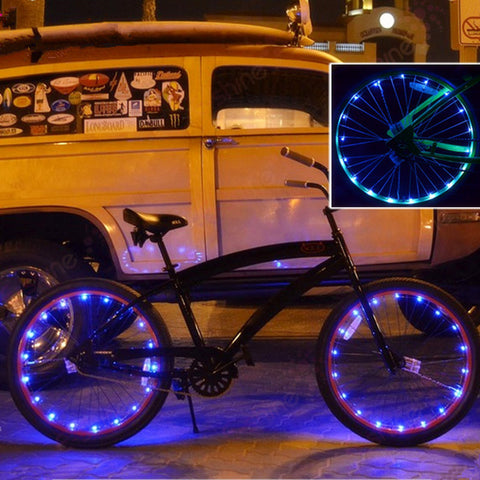 2016 New LED Wheel Light LED Copper Wire for bike decoration colorful for cycling waterproof novelty