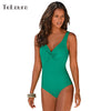 Image of One Piece Swimsuit 2017 Swimwear Women Push Up Bodysuit Plus Size Beach Wear High Cut Bathing Suit Maillot de Bain Femme S-3XL