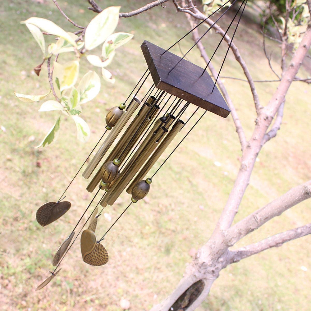 2017 New Love Heart 8 Tubes Outdoor Living Yard Garden  Decor Wind Chimes Lenght 55cm Windchime