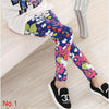 Image of Fashion Spring Summer Girl Pants Flower Printing Girl Leggings Kids Children Pants Girl Clothes 2-13 Years