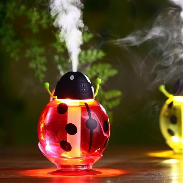 260ml Beatles Ultrasonic Humidifier USB Car Humidifier Mini Aroma Essential Oil Diffuser Air Aromatherapy Mist Maker Home Office