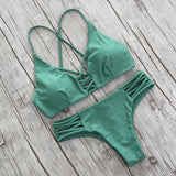 Halter Bikini 2017 Sexy Swimwear Women Cut out Brazilian Bikini Set Bandage Beach Wear Swimwear Female Bathing Suits Swimsuits