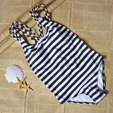 2017 Summer styles stripe Multi rope triangle conjoined Hollow out cross sexy bikini set swimwear swimsuit beach maillot de bain