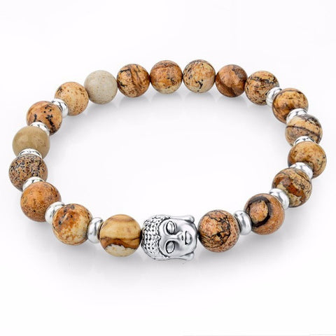 2016 Mens Turkey Turkish Jewelry Natural Stone Bracelet femme Silver Lava Buddha Bead Chakra Bracelets & Bangle For Women Men