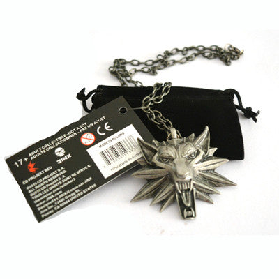1 Bag and 1 Card The Witcher 3 Wild Hunt Medallion Pendant and Chain Necklace