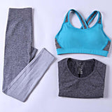 B.BANG Women Sport Yoga Sets Fitness Elasitic Sportswear Sets for Gym Running Jogging Bodybuilding Suits Woman Yoga Clothing