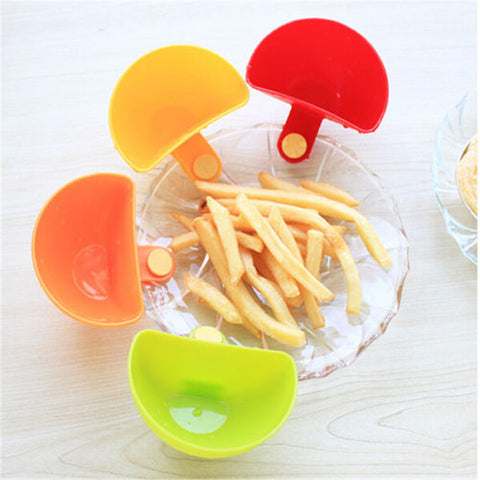 1Pc Creative Cup Bowls Assorted Colors Progressive Dip Clip Capacity Tiered Stand