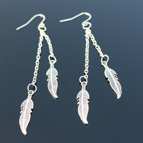 Long Tassel Feather Drop Earrings Fashion Jewelry boucle d'oreille Women Dangle Brincos 2017 Bohemian One Direction NEW Arrival