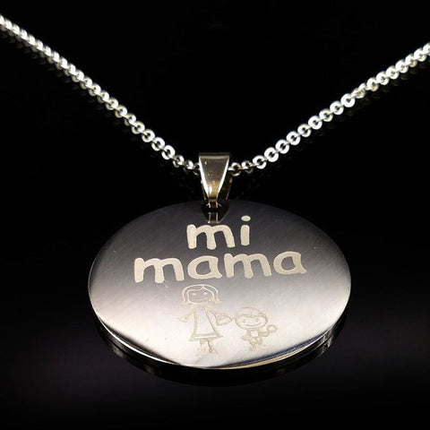 Family Necklaces Stainless Steel Mama Forever Boy Girl Pendants Necklace Jewelry Women Kids Family Member Christmas Gift N69131