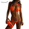Image of 2017 Bright Halter Bikinis Women Swimsuit Push Up Swimwear Sexy Mini Micro Bikini Brazilian Bandeau String Bathing Suit Swim