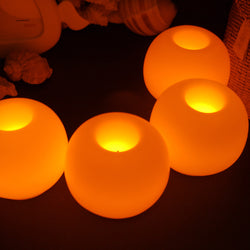1PC Creative Round Ball LED Candle Lamp Yellow High Quality Mini Electronic Candle Light for Wedding Party Decoration Tea Light