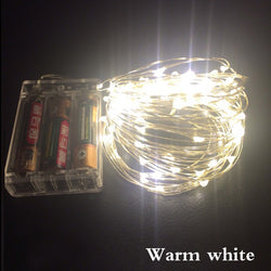 10M 100 led 3AA battery powered outdoor led copper wire string lights for christmas festival wedding party decoration